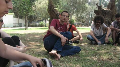 מפגש בלוגרים עם דב חנין