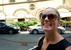 Look up (Daniel Bachhuber) Tags: city travel family summer portrait people italy church car sunglasses walking mom florence afternoon looking candid sunny sidewalk traveling diffusedlight italy08 carolynbachhuber