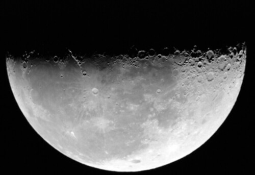 Our first Moon w/ telescope