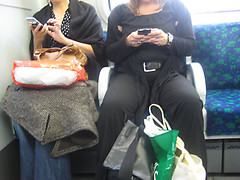 Texting on the Tube