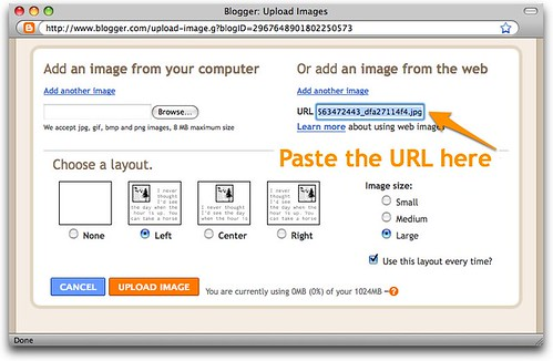 Blogger: Upload Images