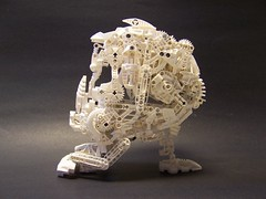 bionicle skull (monsterbrick) Tags: white skull lego bone bionicle moc greeble