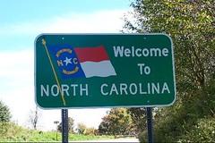 North Carolina Welcome Sign.