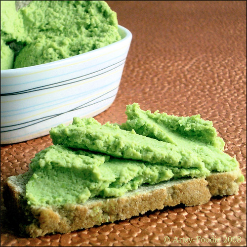 Edamame spread close-up
