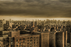 Gotham City (noamgalai) Tags: city nyc windows sky ny newyork sepia brooklyn buildings landscape photography photo picture photograph brooklynbridge gotham allrightsreserved    noamg noamgalai   sitelandscapes    sitemain