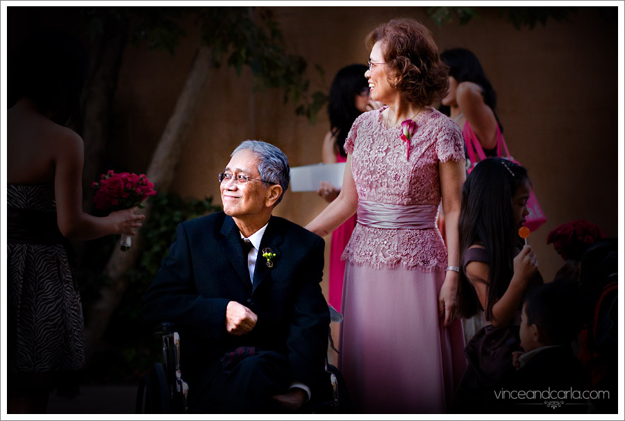 happy dad cathedral of angels dad wheelchair wedding