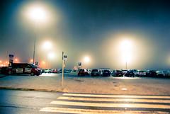 Parking lot in the fog (bellyanz1) Tags: uk paris london amsterdam fog newcastle airplane airport europe frankfurt parking poland warsaw osaka katowice lufthansa pyrzowice kielce polad mierzcice lskie