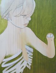 If It Wasn't Sewn On (Cat Rocketship) Tags: woman green art girl hand arm stump ribs oil bones ribcage oilpaintings amputee catrocketship