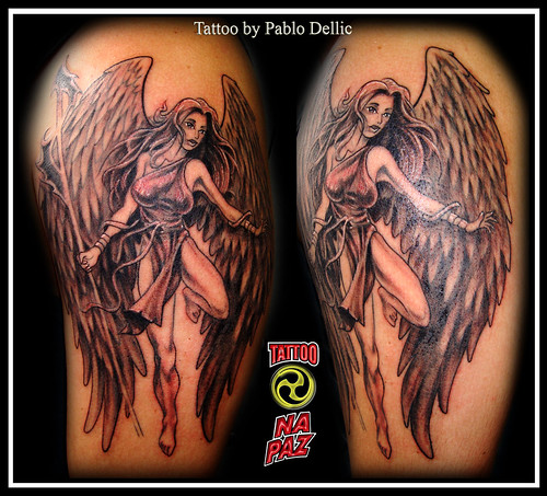 Tattoo Flash Angels. Angel Tattoo by Pablo