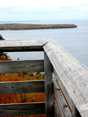 edges (Hot Lava) Tags: autumn trees wisconsin october fallcolors lakemichigan 2008 doorcounty peninsulastatepark eagletower carvinginitials fallfoliageseason