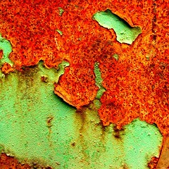 Rust (tina negus) Tags: urban abstract macro green dumpster rust skip theunforgettablepictures rustrules