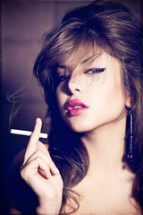 persian model glamour cigarette headshot smoking deli markjsebastian