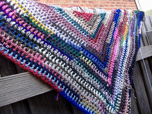 shawl in progress