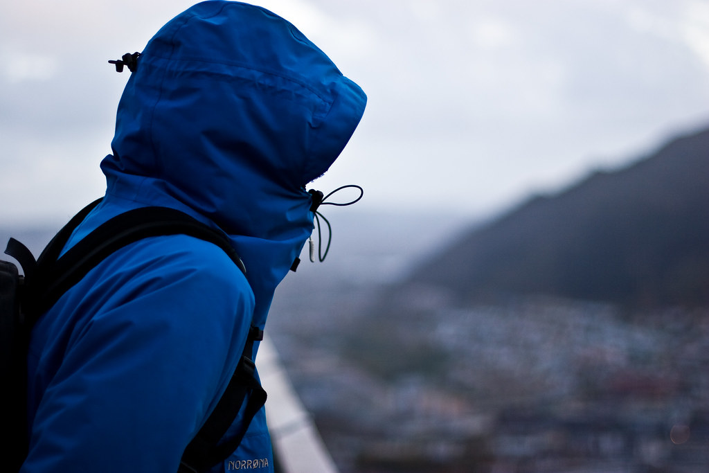 En regnfull dag i Bergen