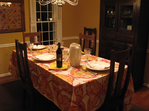 The table set for Sunday Supper