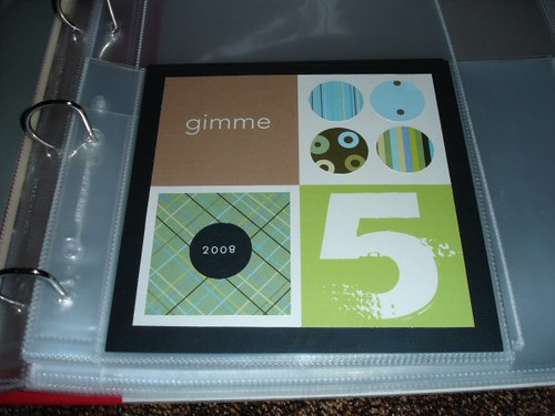 Gimme 5 - week 4, layout 2 (mini book)