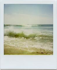 Fire Island surf #1 (davebias) Tags: beach polaroid sx70 surf expired fireisland roidweek