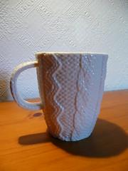 Aran jumper mug