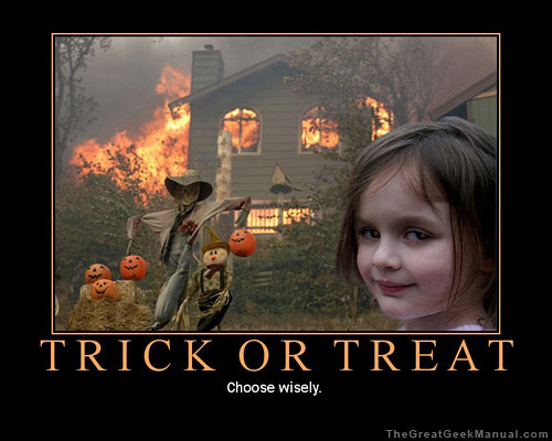 Motivational Poster: Trick or Treat
