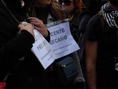 Docente precario (Gaiux) Tags: roma università protesta 2008 proteste scuola manifestazione sciopero riforma facoltà finanziaria istruzione sindacato sindacati gelmini 30102008 legge133