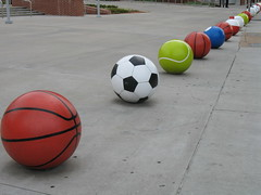 Leading Line of Sports Balls