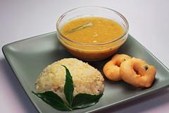 Pongal, vada, sambar - a South Indian Breakfast