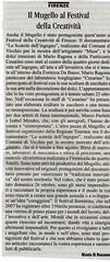 Articolo sul settimanale Il Galletto. Festival Della Creatività 2008