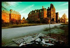Hudson River State Hospital Exterior-1 (Sebastian T.) Tags: urban building abandoned trash hospital decay gothic ruin sanatorium asylum deserted dilapidated mental institution kirkbride