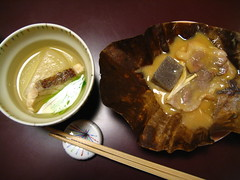 Soup and meat