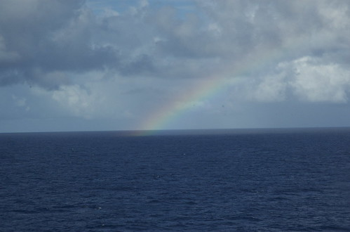 End of the rainbow at sea