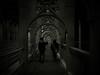 Topsy and Elly crossing the Tyne (Leo Reynolds) Tags: leol30random photoshop duotone fujifilm finepix f30 025sec f28 iso100 8mm 1ev groupsepiabw xleol30x hpexif xratio4x3x xx2008xx
