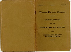 Wabash Railroad CTC Signal Rules 1931 Cover (Mark Vogel) Tags: railroad train eisenbahn railway fo wabash cts chemindefer newyorkcentral signale rulebook eisenbahnsignal operatingrules signalchart signaldiagram signalaspects signalbilder