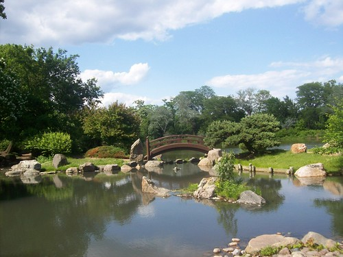 Osaka Japanese Garden - Island of the Immortals and the vicinity