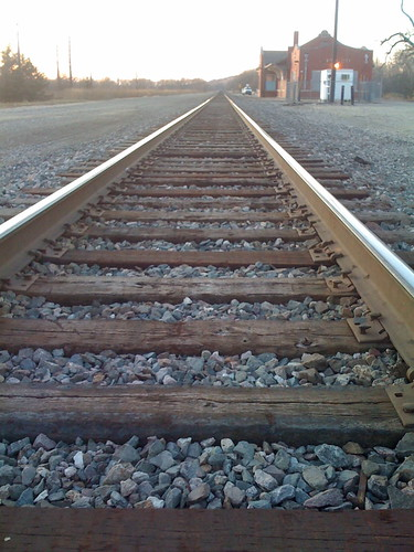 Railroad in Strong City, Kansas
