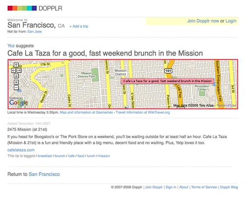 DOPPLR: tips for San Francisco: Cafe La Taza for a good, fast weekend brunch in the Mission