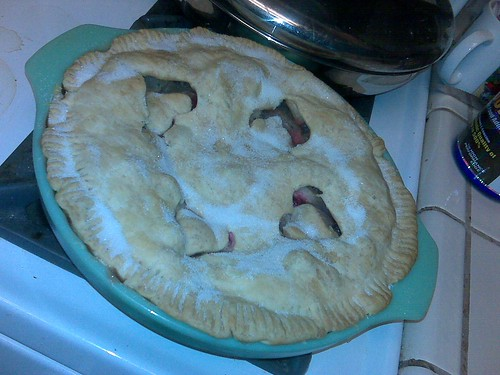 My signature apple-cranberry pie!