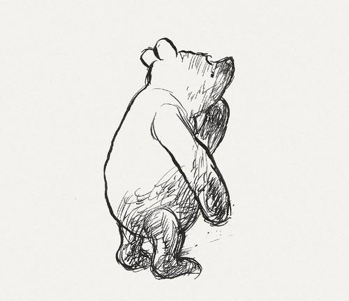 e0874eeb5f8e BibliOdyssey  Original Winnie The Pooh Drawings