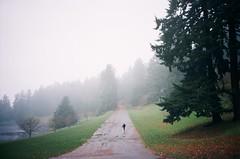 keep on running (Fake Patois) Tags: trees fog running run mount tabor runway