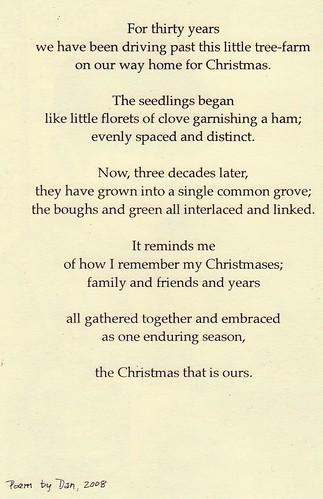 D's 2008 card poem