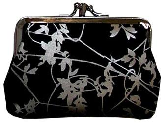 clarissa hulse black pewter clip purse