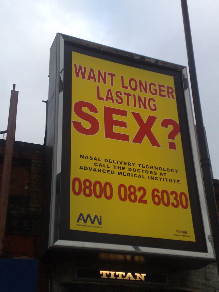 Want longer lasting sex? Shoreditch High Street