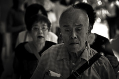 Kyoto memories XIV (manganite) Tags: old city portrait people urban bw white black men face japan digital geotagged asian japanese nikon kyoto asia tl candid lifestyle streetscene elderly  nippon gion d200 nikkor dslr kansai nihon 18200mmf3556 utatafeature manganite nikonstunninggallery date:year=2006 date:month=august date:day=21 geo:lat=35003856 geo:lon=135775051 format:ratio=32
