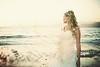 On the beach (ZekaG) Tags: beach bride sand looking dress side away gazing