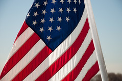 Red, White, and Blue (wenzday01) Tags: nyc newyorkcity travel blue red white ny newyork nikon flag americanflag nikkor ellisisland d90 nikond90 18105mmf3556gedafsvrdx
