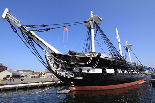 The USS Constitution battle ship...