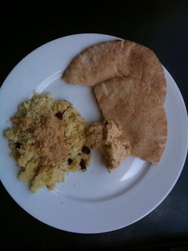 Tahini Salad Dressing on Couscous