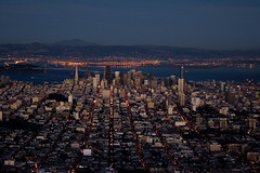 (exxonvaldez) Tags: sanfrancisco night twilight aerial baybridge transamerica sfist onerincon