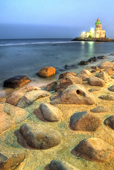 G'Day Jeddah ! (Khaled A.K) Tags: blue sea sky seascape landscape mosque jeddah saudiarabia hdr waterscape    photomatix       5xp  aplusphoto