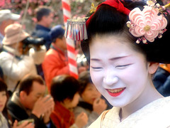 Baikasai () - Naokazu (ericlty) Tags: japan kyoto maiko geiko  teaceremony  ocha baikasai kitanotenmangushrine  kamishichiken   plumblossomfestival  naokazu