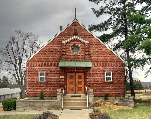 Immaculate Heart of Mary Roman Catholic Church, in New Melle, Missouri, USA - Saint Joseph Chapel (old church) exterior